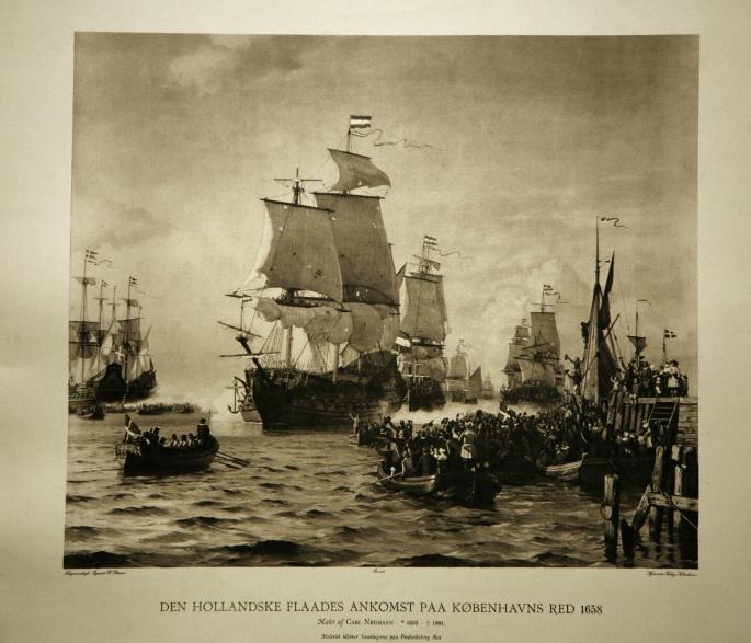 Den hollandske Flådes Ankomst på København Red 1658