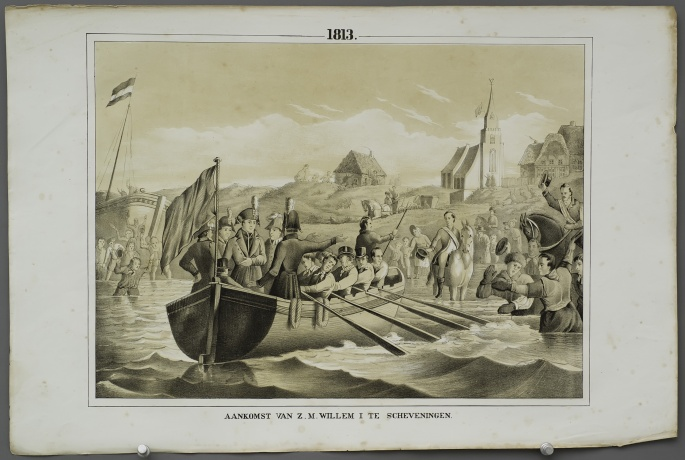 Arrival of H.M. William I at Scheveningen (1813)