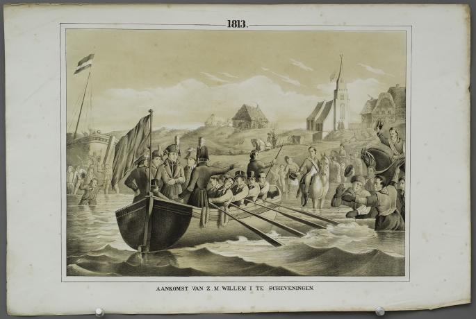 Arrival of H.M. William I at Scheveningen (1813)