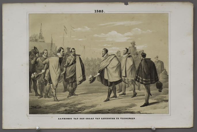 The arrival of the Earl of Leicester at Vlissingen (1585)