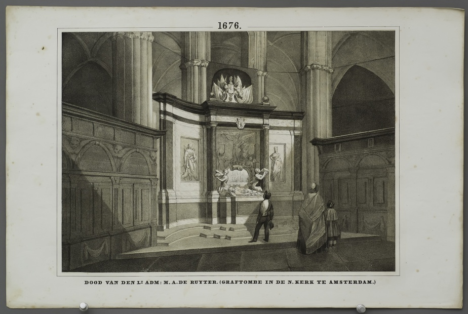 Death of Lt.Adm. M.A. de Ruyter (tomb in the Nieuwe Kerk in Amsterdam)