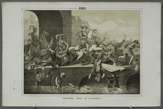 French fury at Antwerp (Anjou driven from Antwerp) (1583)
