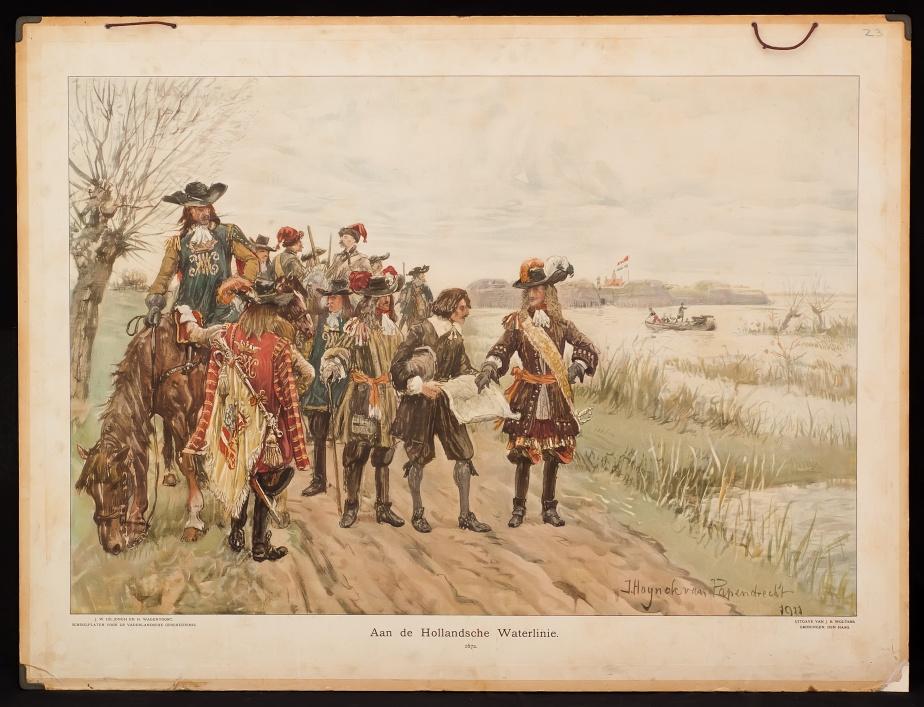 Aan de Hollandse waterlinie, 1672.
