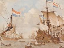 Krijgsraad vóór de vierdaagschen zeeslag, 1666.
