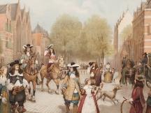 Het Haagsche voorhout in de 17e eeuw.