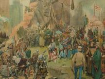 Belegering van een kasteel (Het huis te Voorst. 1362)
