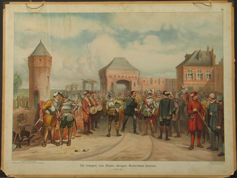 De troepen van Bossu dringen Rotterdam binnen, 9 April 1572