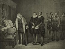 J. van Oldenbarneveld given notice of his death sentence (1619)