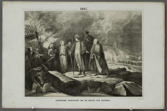 Louis Napoleon at the ruin of Leyden (1807)