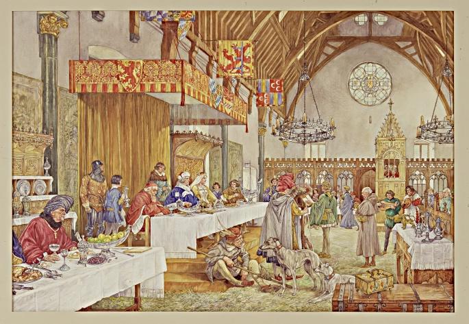 Sprooksprekers in de Ridderzaal, 1394