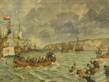 Landing van Prins Willem III bij Brixham, 1688. 