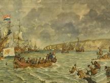 Landing van Prins Willem III bij Brixham, 1688.