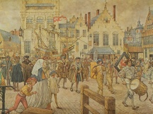 Een gildeoptocht in Antwerpen, 1520.
