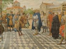 Karel de Grote te Aken, 808. Uitzending van koningsboden.