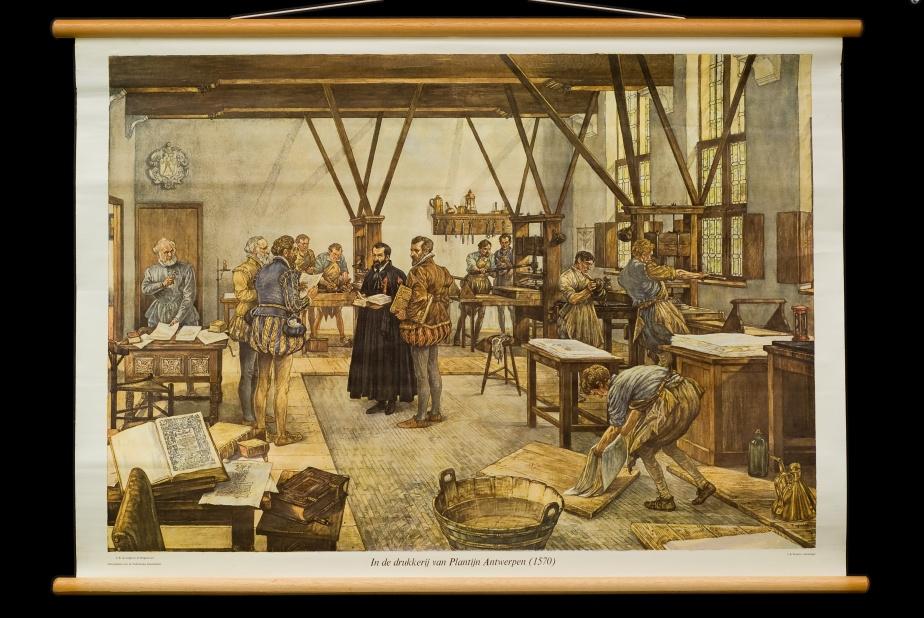 In de drukkerij van Plantijn, Antwerpen, 1570.