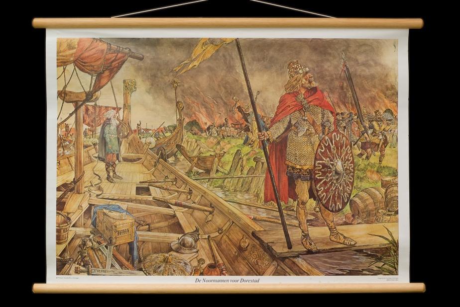 De Noormannen voor Dorestad.