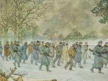 Naar het concentratiekamp, januari 1945.