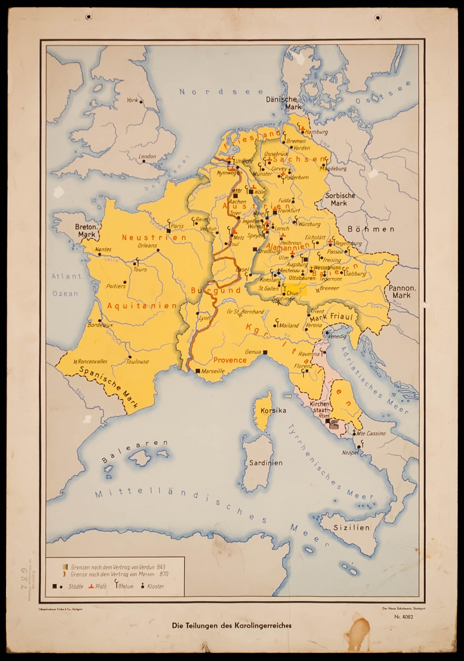 Divisions of the Carolingian Empire