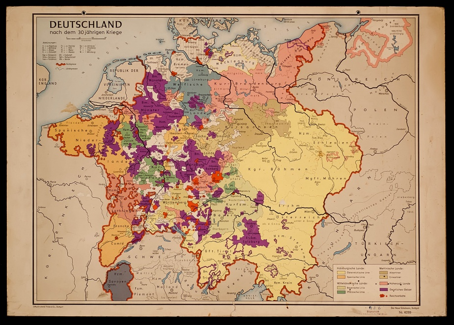Wall Charts History And European Identity - Map germany thirty years war