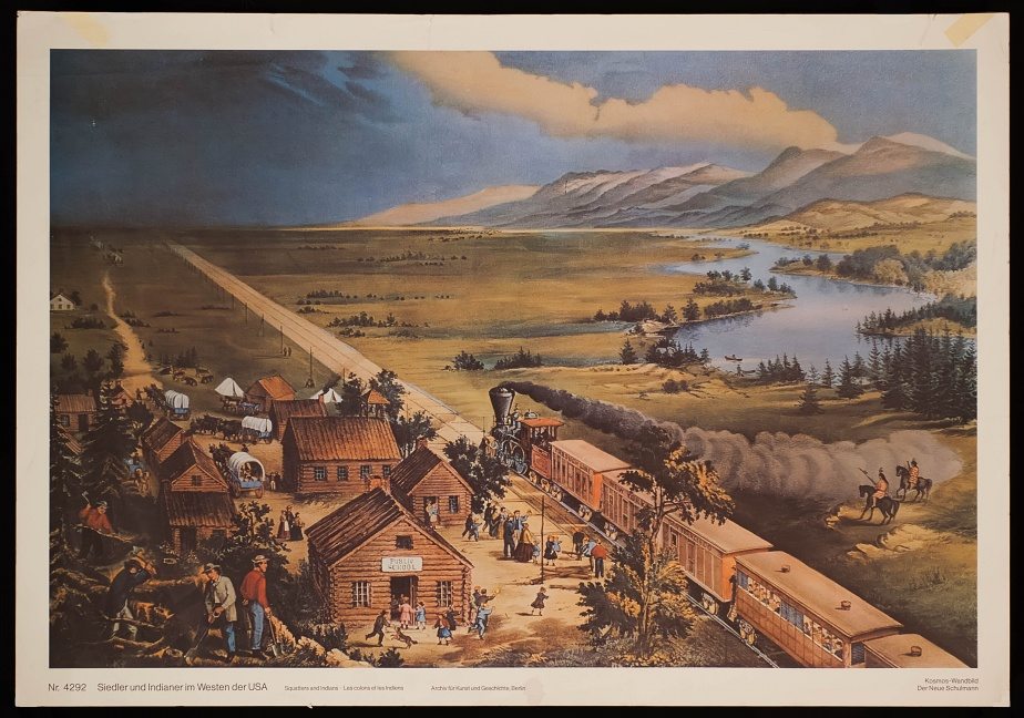 Squatters and Indians in the West of the USA