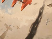 Richthofen in an aerial combat