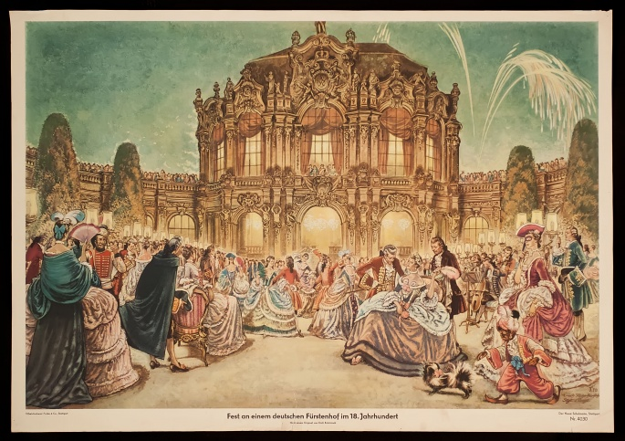 Celebration at a German princely court in the 18th century