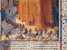 Construction of a cathedral in the middle Ages