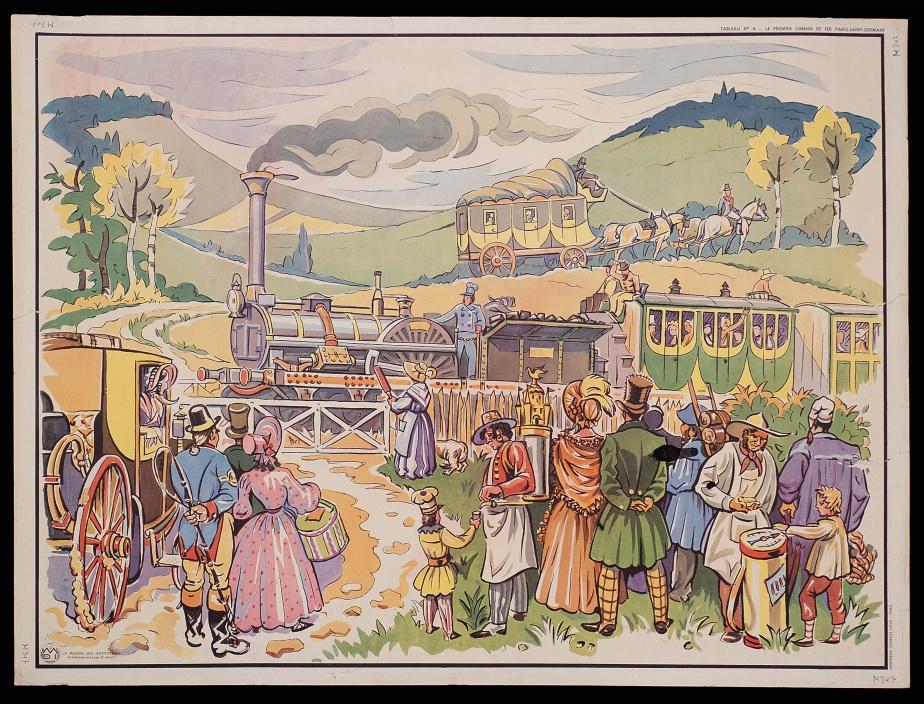The maiden voyage of the first steam train in Paris Saint-Germain