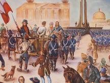 French Revolution: Louis XVI on the way to his execution