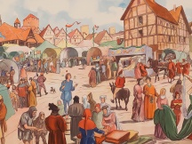 A medieval market