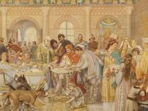 Aan het hof van Karel de Grote.