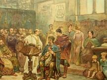 Aan het hof van Karel den Grooten