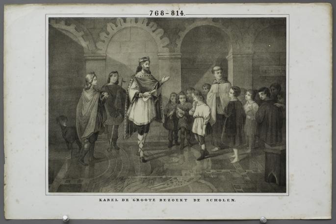 Charlemagne visits schools (768 – 814)