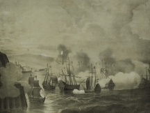 The naval Battle of Gibraltar (death of Heemskerk) (1607)